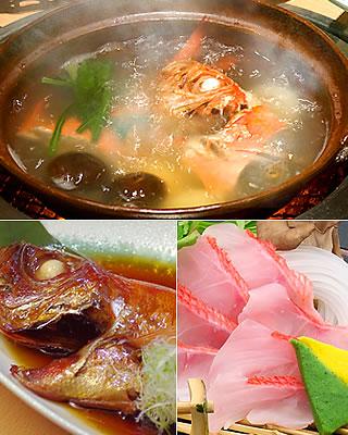 下田大和館,自慢の金目鯛料理