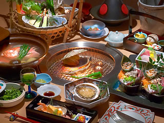 海鮮炭火会席料理